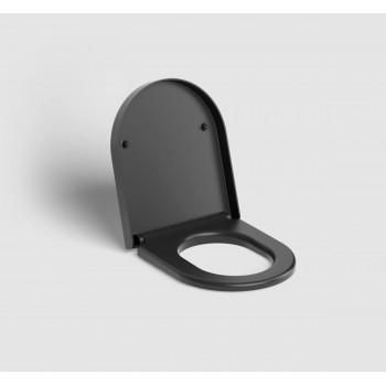Крышка-сиденье Clou Hammock CL/04.06040.21 микролифт (43.3х36.8) чёрная матовая