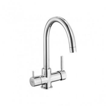 Смеситель для кухни E.C.A. Dual Flow 102118005 с краном питьевой воды