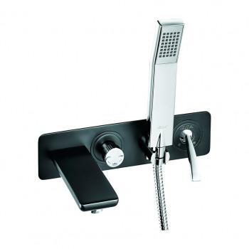 Смеситель для ванны E.C.A. Novita 104501130 скрытого монтажа черный