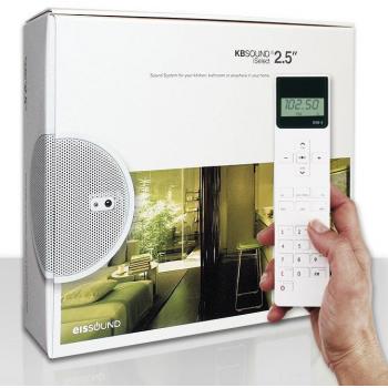 Радио для ванной комнаты Eissound KBSOUND iSelect 2.5 белый