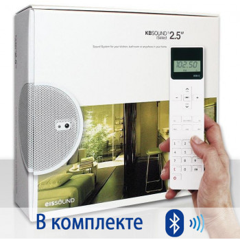Радио для ванной комнаты Eissound KBSOUND iSelect 2,5 c Bluetooth белый