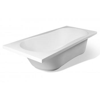 Ванна прямоугольная из литьевого мрамора Эстет Лаура (170х70)