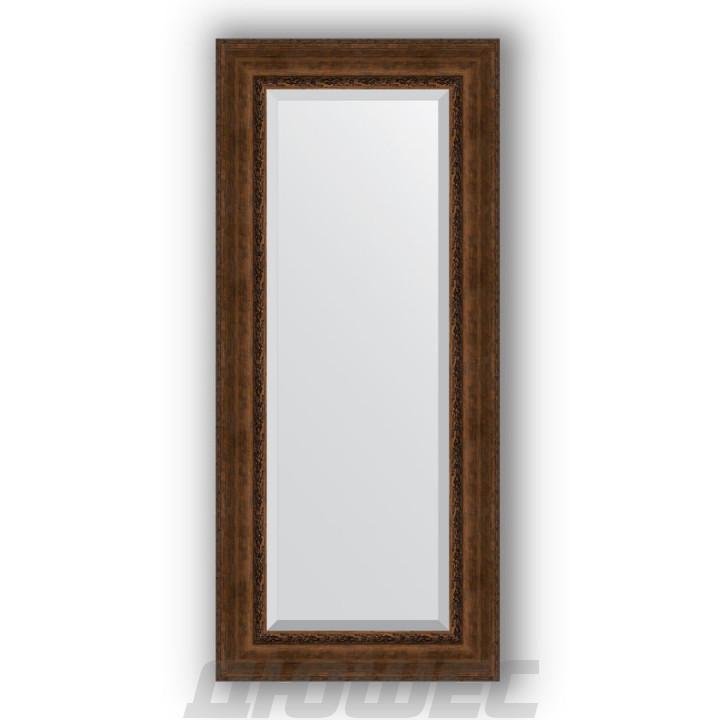 Зеркало Evoform Exclusive BY 3559 с фацетом состаренная бронза с орнаментом 67 см