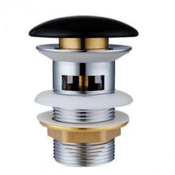 Донный клапан Gid BL100-1 керамический, черный, с переливом