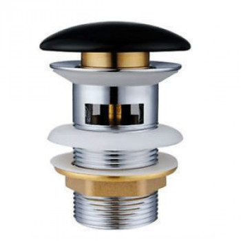 Донный клапан Gid BL100 керамический, черный, без перелива