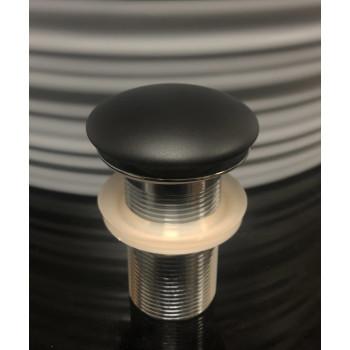 Донный клапан Gid BLM100 керамический, чёрный, матовый, без перелива