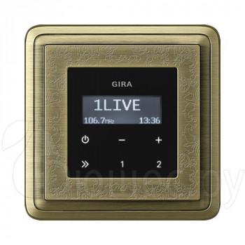 Встраиваемое радио в стену Gira в рамке ClassiX Art бронза