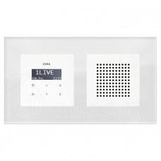 Комплект радио Gira белое в стеклянной рамке Esprit в подрозетник