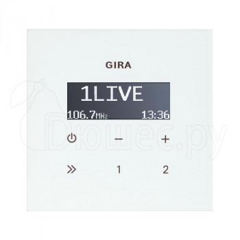 Встраиваемое радио в стену и подрозетник Gira белое