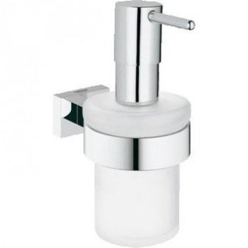 Дозатор для жидкого мыла Grohe Essentials Cube 40756001 с держателем