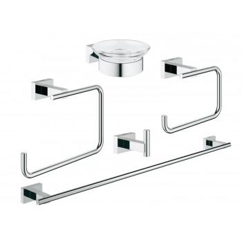 Набор аксессуаров для ванной комнаты Grohe Essentials Cube 40758001