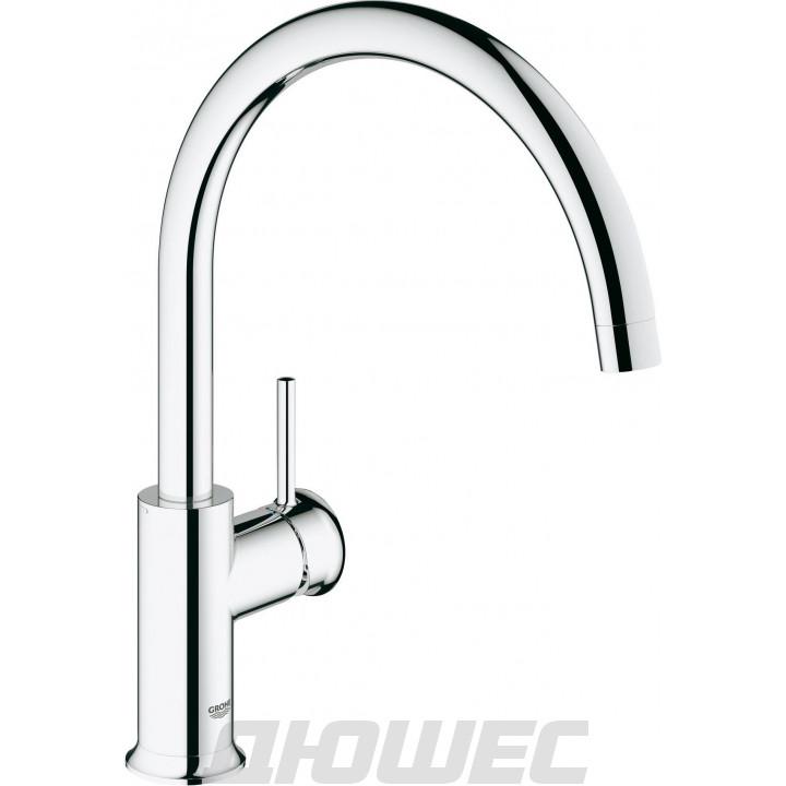 Смеситель для кухонной мойки Grohe BauClassic хром 31234000