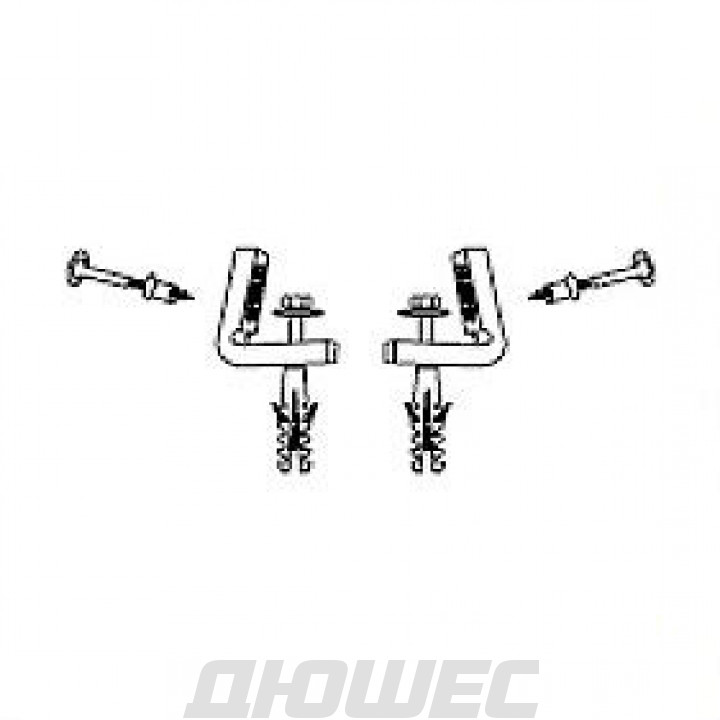 Крепеж для подвесной колонны/унитаза/биде Hatria Y0IQ01