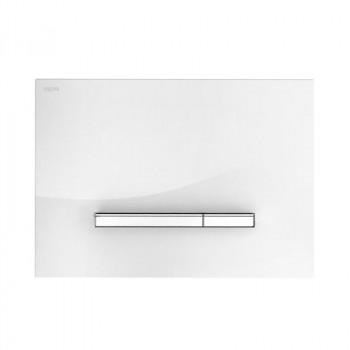 Клавиша смыва Mepa Sirius B 421750 белое стекло