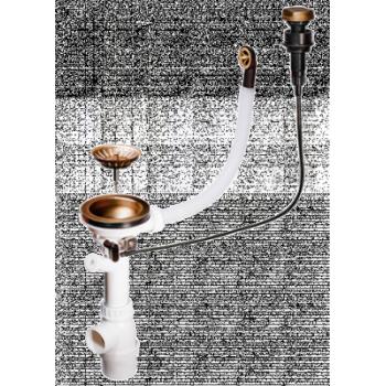 Клапан-автомат Omoikiri A-02-AB-1 4996007 для одночашевых моек античная латунь