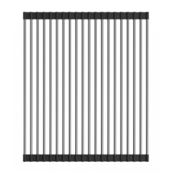 Ролл-мат Omoikiri для мойки с силикон ROLL-01-IN нерж. сталь/черный