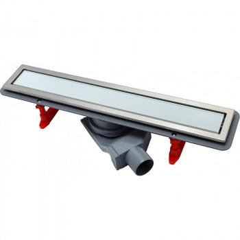 Душевой лоток Pestan Confluo Premium Line 550 белое стекло/сталь