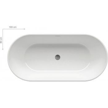 Акриловая отдельностоящая ванна Ravak Freedom O 169x80