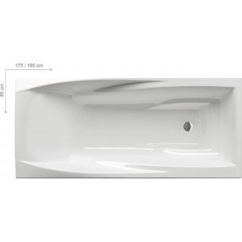 Акриловая глубокая прямоугольная ванна Ravak You 175x85