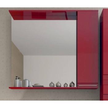 Зеркало СанВит со шкафчиком 90 см