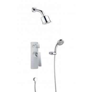Душевой комплект Timo Helmi SX-4059/00-16SM скрытого монтажа хром, белый