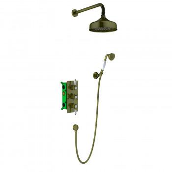 Душевой комплект Timo Nelson SX-1391/02SM скрытого монтажа с термостатом антик